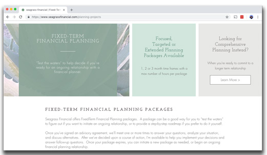 seagrass financial web page