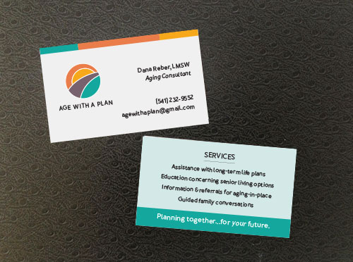 Age With a Plan bus cards