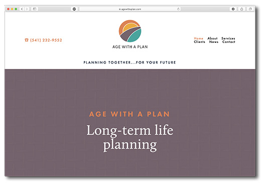 Age With a Plan website